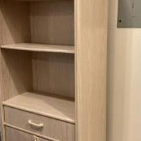 Lite Grey wood veneer Shelving Units for sale in Grand Lake CO by Garage Sale Showcase member MSE2394, posted 10/11/2020