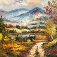 Large Framed Mountain Oil Painting for sale in Grand Lake CO by Garage Sale Showcase member MSE2394, posted 10/11/2020