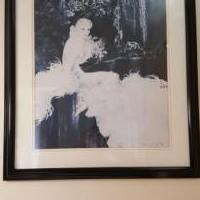"Louis Icart ""Orchids"" Print.  Framed for sale in Sterling Heights MI by Garage Sale Showcase member BandTstuff, posted 02/23/2020"