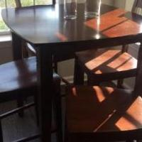 Pub Table with Four Chairs for sale in Cherry Hill NJ by Garage Sale Showcase member wer2020, posted 09/06/2020