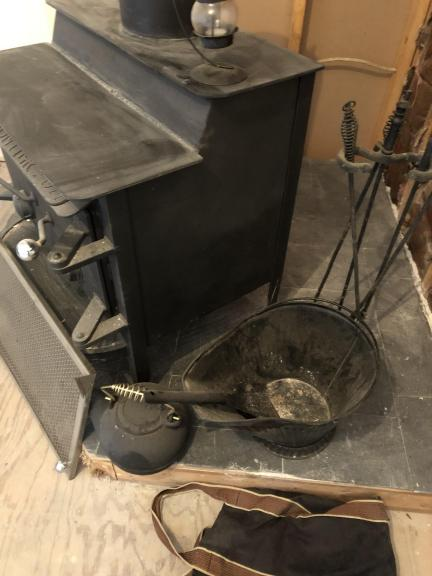 Wood burning stove and tools