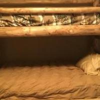 Log bunkbeds for sale in Fraser CO by Garage Sale Showcase member Kshepherd0098, posted 09/13/2020