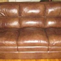 Leather Sofa with Sofa Chair & Ottoman for sale in Pinehurst NC by Garage Sale Showcase member Michael11, posted 03/07/2020