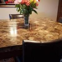 Marble Pub Table for sale in Montrose NY by Garage Sale Showcase member tragone, posted 02/09/2020