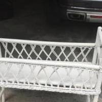 Wicker plant stand for sale in Pinehurst NC by Garage Sale Showcase member sue123, posted 06/11/2020