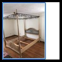 Thomasville Queensize Canopy Bed Frame for sale in Lewiston NY by Garage Sale Showcase member BobLad, posted 06/14/2020