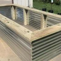 "4x10 Raised Garden Bed with 8"" Seat for sale in Angleton TX by Garage Sale Showcase member Deep Earth Nursery, posted 04/28/2020"