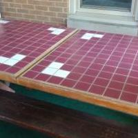 Ceramic Top Picnic Table with two benches for sale in Valparaiso IN by Garage Sale Showcase member dapsgtr2, posted 10/14/2020