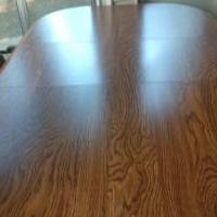 Patio Dining Table with Center Leaf with 6 Roller Chairs for sale in Valparaiso IN by Garage Sale Showcase member dapsgtr2, posted 10/14/2020