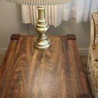 Pair of Oak End Tables with Lights for sale in Valparaiso IN by Garage Sale Showcase member dapsgtr2, posted 10/14/2020