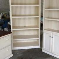 Wooden Matching Bookcases and file cabinet for sale in Southern Pines NC by Garage Sale Showcase member phoebe, posted 04/15/2020