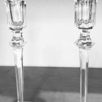 Ragaska Crystal Candlesticks for sale in Cary IL by Garage Sale Showcase member Laurie Teper, posted 12/21/2020