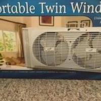 Twin window fan for sale in Rutland VT by Garage Sale Showcase member Donterry, posted 02/27/2021