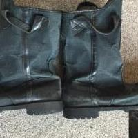 Retired Firefighter Boots for sale in Cary IL by Garage Sale Showcase member sphingidae, posted 02/01/2021