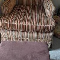 Chair and Ottoman for sale in Rahway NJ by Garage Sale Showcase member akimmelman, posted 03/01/2021