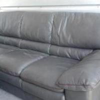 Sofa/love seat/2 matching glass top end tables for sale in Chesapeake VA by Garage Sale Showcase Member Maybelline