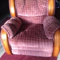 Recliner with stripes for sale in Salem County NJ by Garage Sale Showcase Member Cleanout