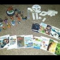 Wii console, games and figurines for sale in Emery County UT by Garage Sale Showcase Member Wmfauver
