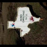 Texas Christmas sign for sale in Greenville TX by Garage Sale Showcase Member Cbeasley969