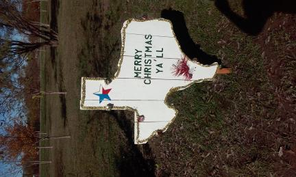 Texas Christmas sign for sale in Greenville TX