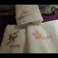 3pk. embroidered towels for sale in Jones County IA by Garage Sale Showcase Member Gmedwards48