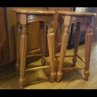 Oak bar stools for sale in Botetourt County VA by Garage Sale Showcase Member Tammysstuff