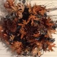 Fall wreath with feathers for sale in Norwalk OH by Garage Sale Showcase Member Mscreativity