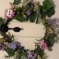 Violet spring wreath for sale in Norwalk OH by Garage Sale Showcase Member Mscreativity