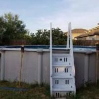 21 Ft Round pool for sale in Converse TX by Garage Sale Showcase Member Rouxsie