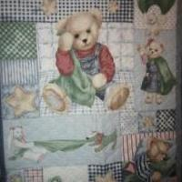 Bluejean Bear Quilt for sale in Baker County FL by Garage Sale Showcase Member Ruths Handmaid Crafts And More