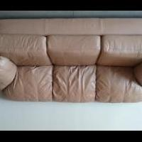 Genuine Leather Couch for sale in Jones County IA by Garage Sale Showcase Member Wageman6