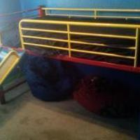 Kids Metal Loft Bed w/ Slide and Ladder for sale in Wasatch County UT by Garage Sale Showcase Member Mattanbarb