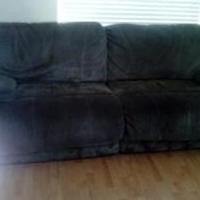 Sage Micro-Fiber Reclining Sofa for sale in Wasatch County UT by Garage Sale Showcase Member Mattanbarb