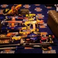 Nerf guns for sale in Bond County IL by Garage Sale Showcase Member Will Schreiber