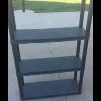 Black Utility Shelf for sale in North Liberty IA by Garage Sale Showcase Member Jsknight007