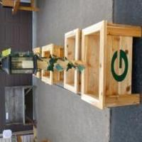 Green Bay Packer Planters for sale in Price County WI by Garage Sale Showcase Member Dustdog68