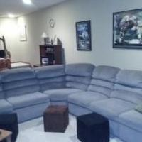 Lane Sleeper sofa sectional with recliners for sale in Fort Wayne IN by Garage Sale Showcase Member BikingIsFun1900