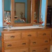 Amish Oak Dresser with Cedar Lined Drawers for sale in Cedar County IA by Garage Sale Showcase Member GETJR1