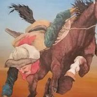 Cowboy and Horse Peter Dodd Signed Painting for sale in Aledo TX by Garage Sale Showcase member Bumsted1, posted 08/25/2018