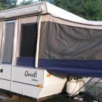 2003 Qwest Jayco 7x14 Tent Camper for sale in Edmunds County SD by Garage Sale Showcase member pceisenbeisz, posted 07/08/2018