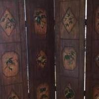 4 panels hand painted screen for sale in Naples FL by Garage Sale Showcase member 1946lucy, posted 10/04/2018