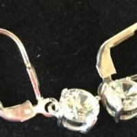 CZ Silver Pierced Earings for sale in Royal Oak MI by Garage Sale Showcase member FurNace25, posted 04/25/2018