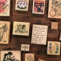 Art stamps for sale in Mckinney TX by Garage Sale Showcase member Flirtginger, posted 06/11/2018
