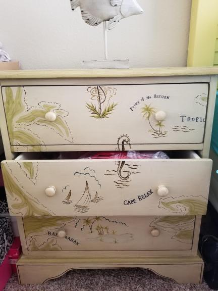 2 end tables chest with drawers