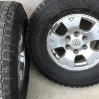 2 Rims and Tires that fit a Toyota Tacoma -Yokohama Geolander- 265/70 R16 for sale in Johnsonburg PA by Garage Sale Showcase member LivingTheLife, posted 08/09/2018