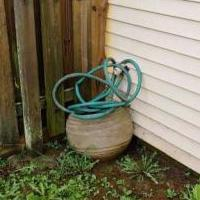 Planter with hose for sale in Fort Knox KY by Garage Sale Showcase member Chem1978, posted 08/18/2018
