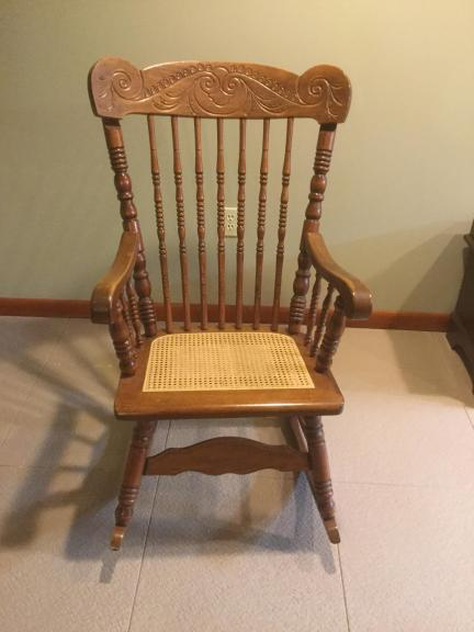 Oak rocking chair for sale in Sterling Heights MI