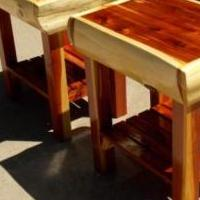 Red Cedar End Tables for sale in Phillips WI by Garage Sale Showcase member WR5882JHH, posted 07/01/2018