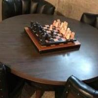 Table and chairs-Whiskey Barrel for sale in Holly MI by Garage Sale Showcase member blackdragon, posted 09/13/2018