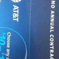 AT&T prepaid card 50.00 card for sale in Batesville AR by Garage Sale Showcase member Katusa, posted 09/04/2018